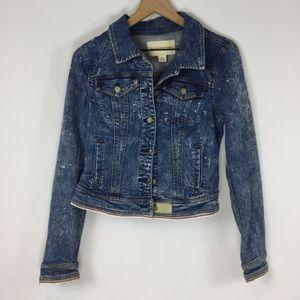 Anthropologie Pilcro Acid Wash Denim Jacket
